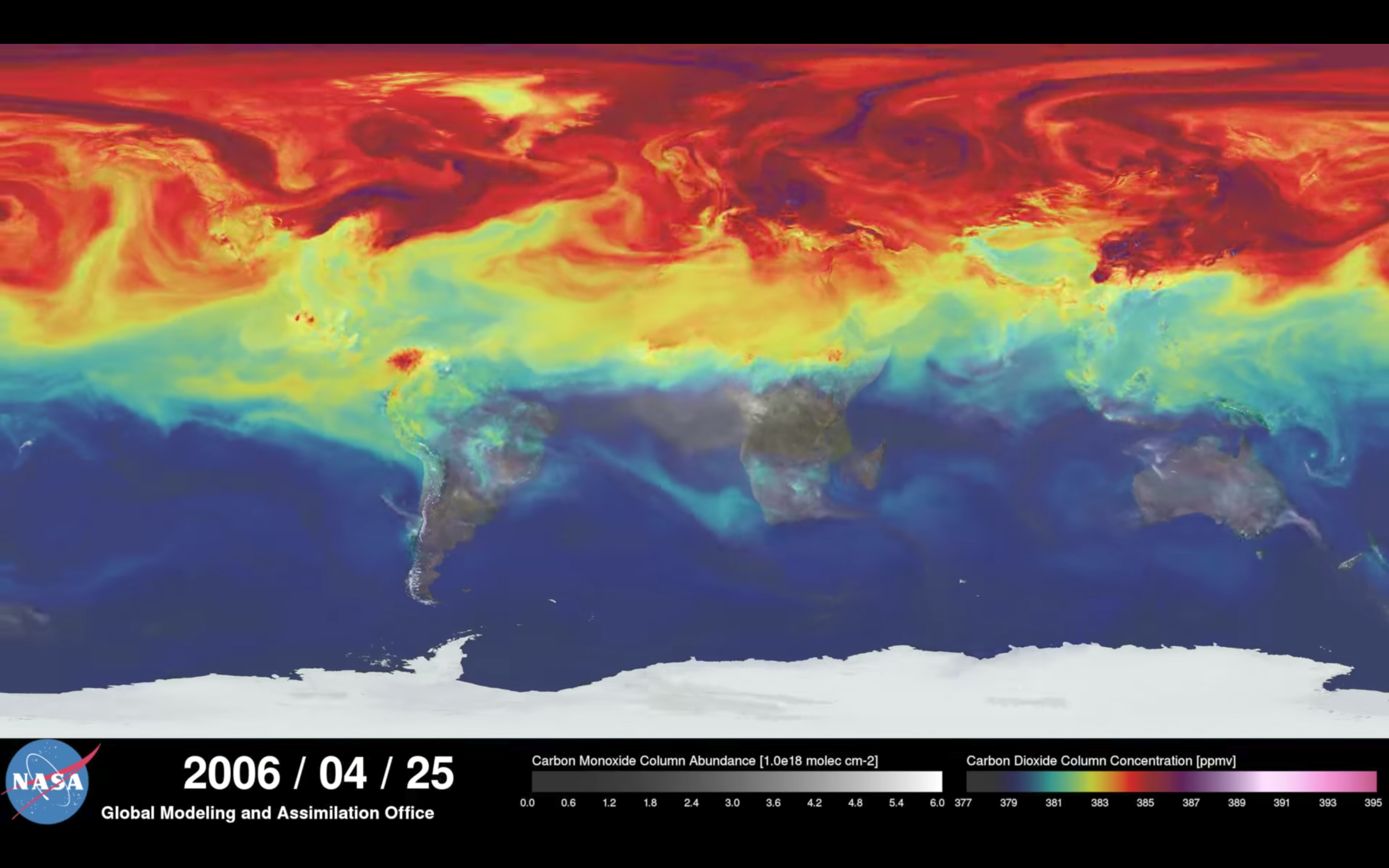 "SOURCE: NASA, ""A Year in the Life of Earth's CO2"""